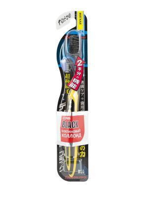 Зубная щетка Black Ultra Slim Plus мягкая DENTALPRO. Цвет: желтый