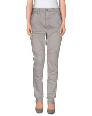 Повседневные брюки MOS MOSH. Цвет: свинцово-серый