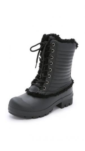 Ботинки Pac на подкладке из короткой шерсти Hunter Boots. Цвет: голубой
