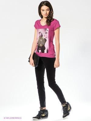 Футболка Boom Bap Wear. Цвет: сиреневый, бледно-розовый, оливковый