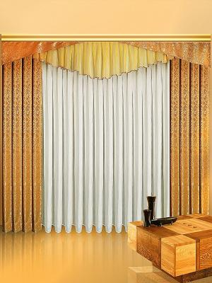 Комплект штор ZLATA KORUNKA. Цвет: золотистый