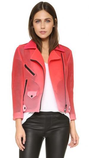 Спортивная байкерская куртка RM Wes Rebecca Minkoff. Цвет: розовый с эффектом «омбре»