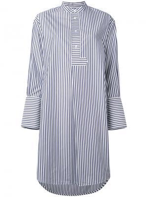 Платье-туника с воротником-мандарин Studio Nicholson. Цвет: синий