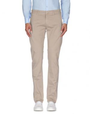 Повседневные брюки RE-HASH. Цвет: бежевый