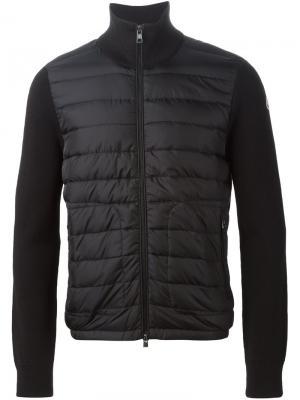 Дутая куртка Moncler. Цвет: чёрный