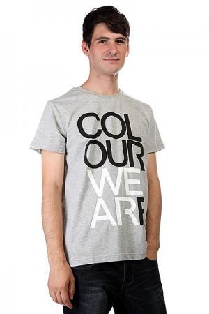 Футболка  We Are Grey Melange CLWR. Цвет: серый