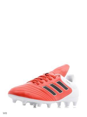 Футбольные бутсы (мяг.покр.) муж. COPA 17.3 FG RED/CBLACK/FTWWHT Adidas. Цвет: красный, белый