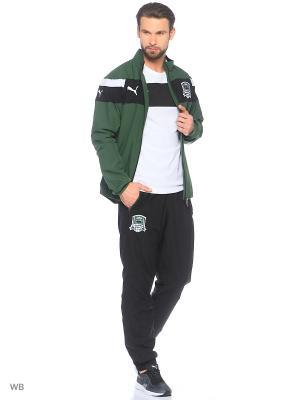 Толстовка FK Krasnodar Leisure Jacket Puma. Цвет: черный, темно-зеленый