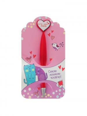 Ручка шариковая Bizon. Цвет: сиреневый