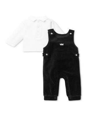 Комплект из 2-х предметов Маленький принц Little Me. Цвет: белый, черный