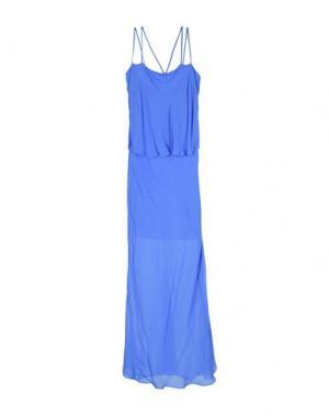 Длинное платье PINKO. Цвет: пастельно-синий