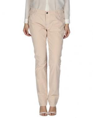 Повседневные брюки XANDRES. Цвет: светло-розовый