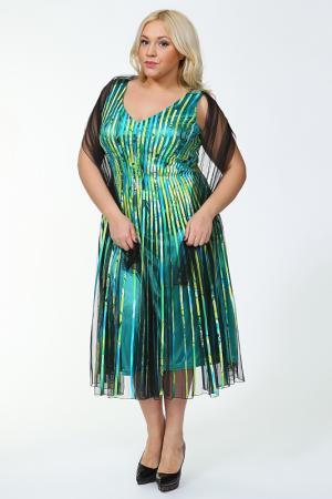 Платье Lia Mara. Цвет: цветной, зеленый