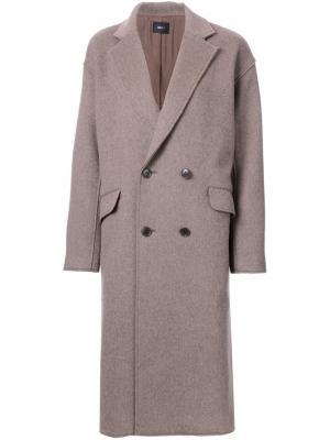 Пальто Raw Edge G.V.G.V.. Цвет: коричневый