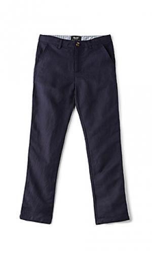 Льняные брюки miles Bardot Junior. Цвет: синий