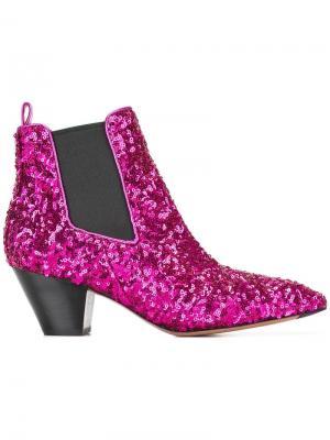 Ботинки челси Kim Marc Jacobs. Цвет: розовый и фиолетовый