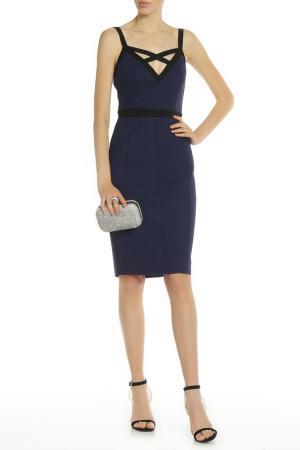 Вечернее платье на бретелях PAPER DOLLS. Цвет: black, navy