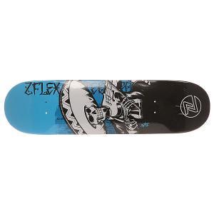 Дека для скейтборда  Zfx Assy Violin 31 x 8.25 (21 см) Z-Flex. Цвет: белый,черный,голубой