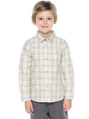 Рубашка CHICCO. Цвет: белый, серый, желтый