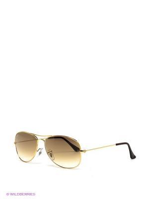 Очки солнцезащитные COCKPIT Ray Ban. Цвет: золотистый, коричневый