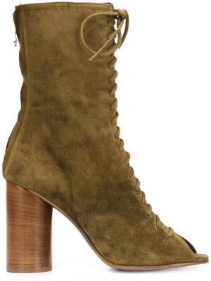 Ботинки со шнуровкой спереди Valas. Цвет: зелёный