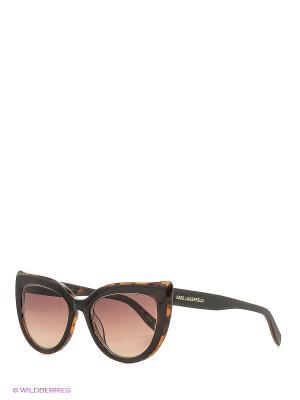 Солнцезащитные очки KL 906S 102 Karl Lagerfeld. Цвет: коричневый