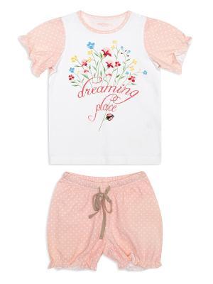 Пижама PlayToday. Цвет: розовый, белый