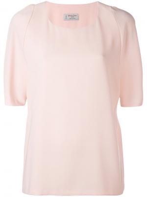 Блузка со складками сзади Alberto Biani. Цвет: розовый и фиолетовый