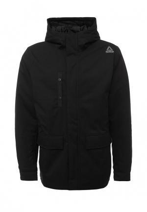 Куртка утепленная Reebok. Цвет: черный