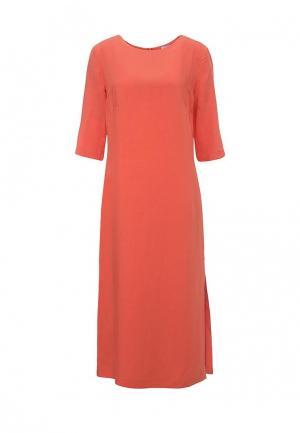 Платье Emka. Цвет: коралловый
