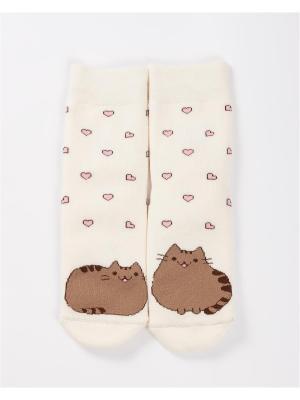 Махровые носки Mark Formelle. Цвет: коричневый, бледно-розовый, кремовый