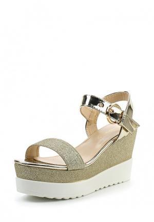 Босоножки Ideal Shoes. Цвет: золотой