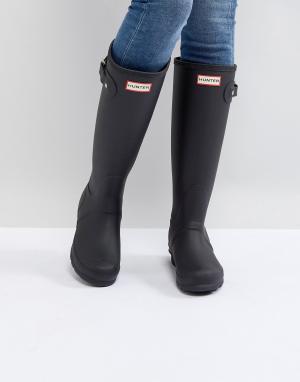 Hunter Черные высокие резиновые сапоги Original. Цвет: черный