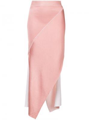 Асимметричная юбка Rosetta Getty. Цвет: розовый и фиолетовый