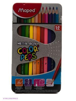 Набор цветных карандашей Maped. Цвет: серебристый