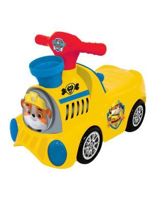 Каталка - пушкар  паровоз Щенячий патруль с шарами Kiddieland. Цвет: желтый, синий, красный