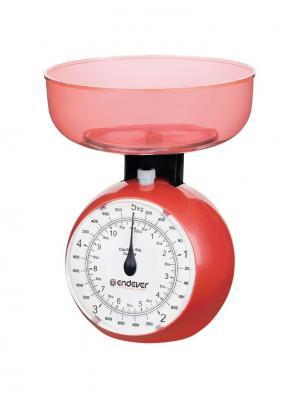 Кухонные весы Endever. Цвет: красный