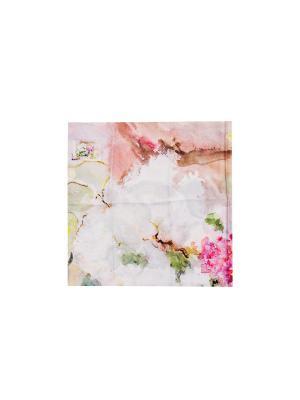 Платок Сирень, 90х90 см ArtNiva. Цвет: светло-зеленый, сиреневый