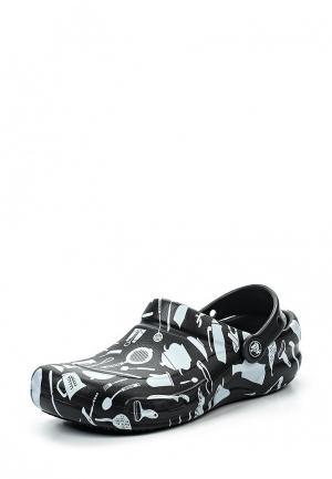 Сабо Crocs. Цвет: черно-белый
