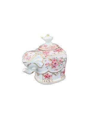 Чайница Сакура Elan Gallery. Цвет: розовый, белый
