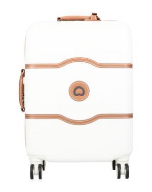 Чемодан/сумка на колесиках DELSEY. Цвет: слоновая кость