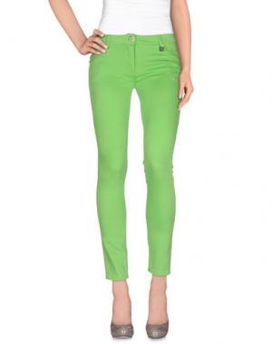Повседневные брюки ROCCOBAROCCO. Цвет: светло-зеленый