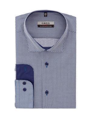 Рубашка GREG. Цвет: синий