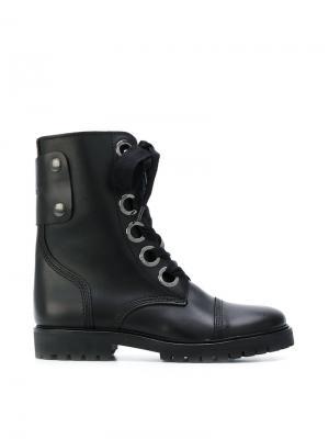 Lace up Joe boots Zadig & Voltaire. Цвет: чёрный