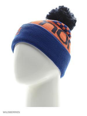 Шапка Free Beanie SALOMON. Цвет: темно-синий, синий, оранжевый