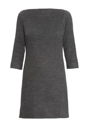Платье из шерсти с хлопком 160318 Msw Atelier. Цвет: серый
