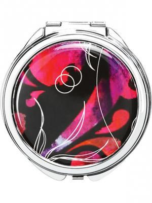Двустороннее компактное зеркало UBU QVS. Цвет: серебристый, розовый, черный