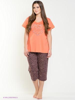 Пижама Vienetta Secret. Цвет: оранжевый