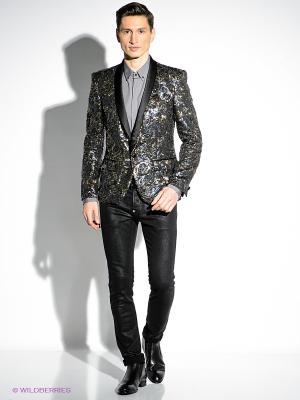 Пиджак Just Cavalli. Цвет: черный, зеленый, золотистый