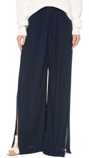 Широкие брюки со складками Tess Giberson. Цвет: темно-синий